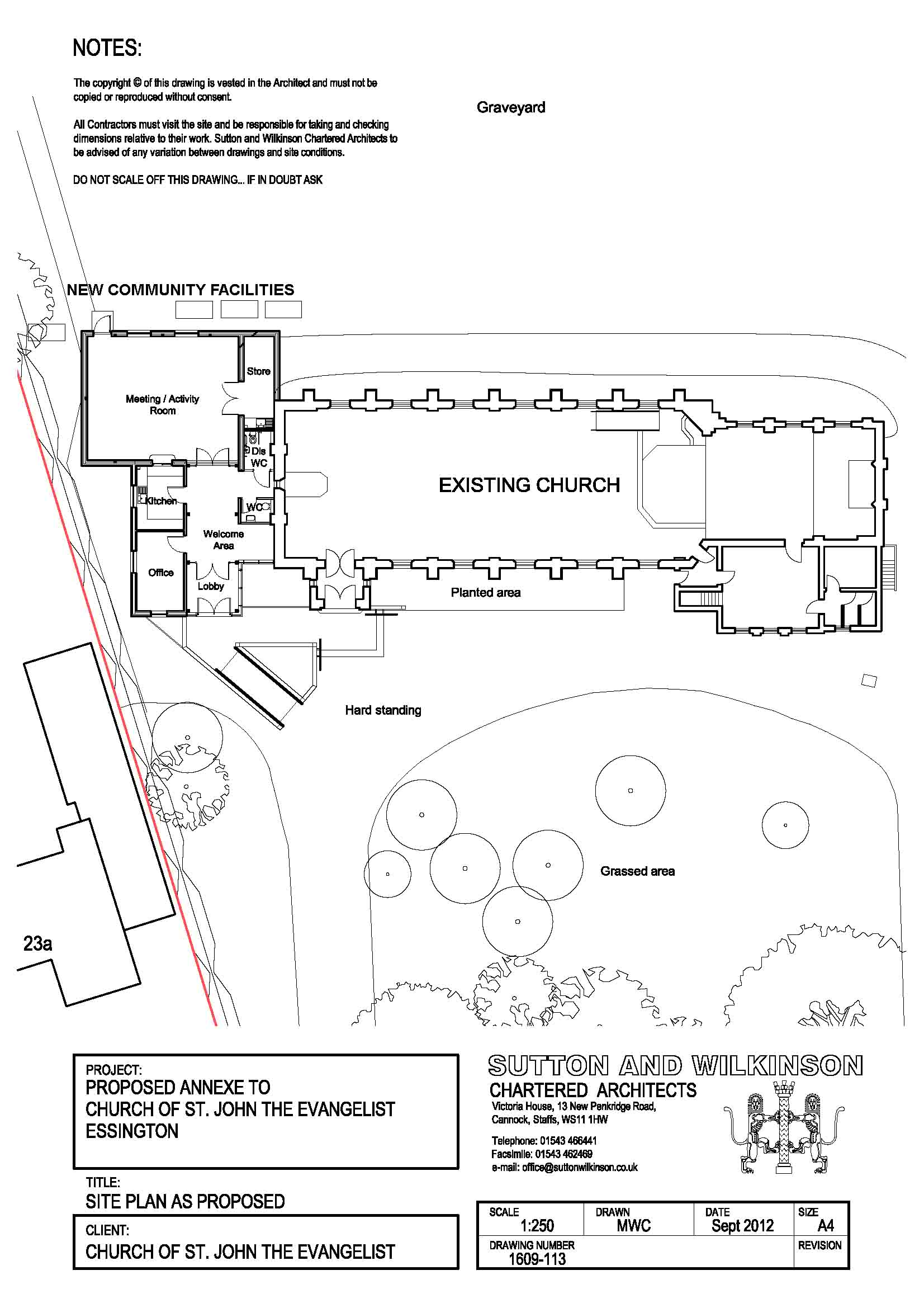 Site Drawings St Johns Church EssingtonSt Johns Church Essington – Site Drawings For Site Plan