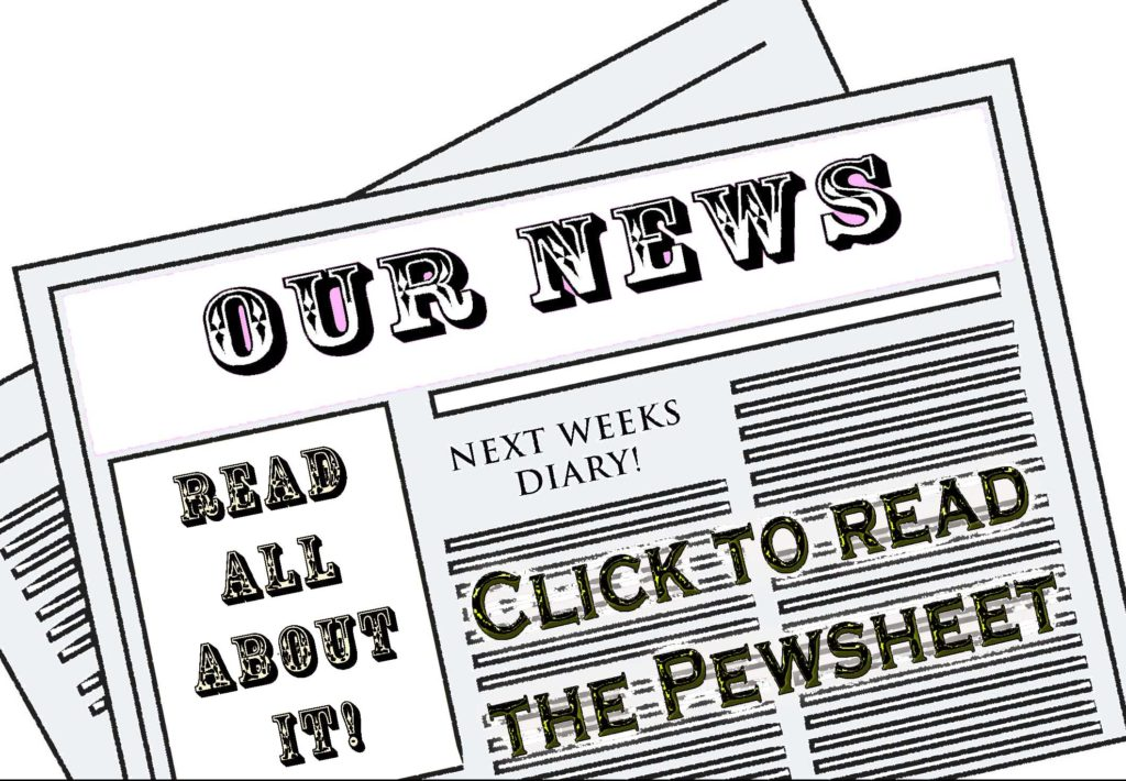 our news for pewsheet