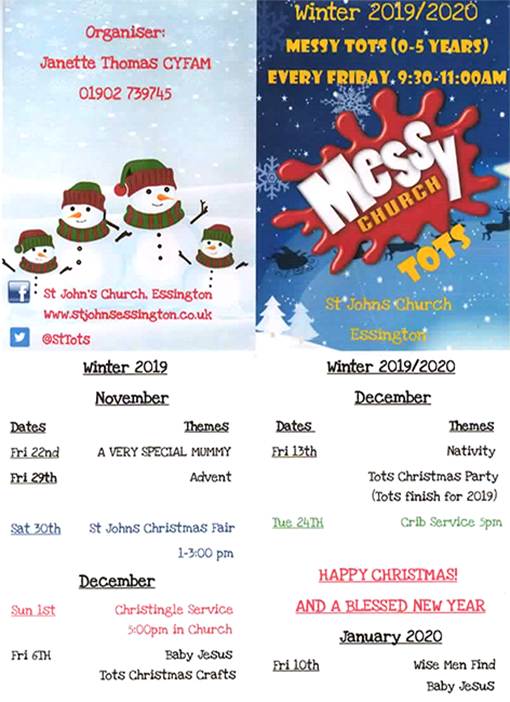 Messy Tots Christmas poster 2019